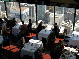 Nice lunch view at the John Hancock tower